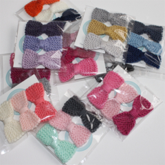 Sweet Tiny Bow | Knitted Hair Clip | Pack of Three Bows | Made to Order