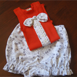 Singlet and nappy cover/bloomer set Size 0