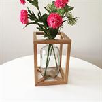 Tasmanian Oak and glass vase