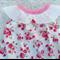 'Sweet Pea' Floral Roses Darling Playsuit / Romper Size 1