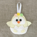 Set of 2, Easter chick in shell and rabbit decoration, value pack