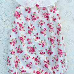 'Sweet Pea' Floral Roses Darling Playsuit / RomperSize 1