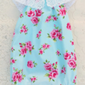 Floral Roses Blue Baby Darling Playsuit / RomperSize 1