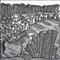 Contemporary art original handmade linoprint 'The Block'
