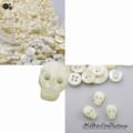 Pearl Skull Button - Stud Earrings