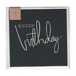 HAPPY BIRTHDAY (BLUE) - MINI CARD