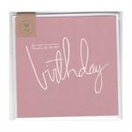 HAPPY BIRTHDAY (PINK) - MINI CARD