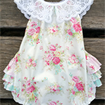 Rosey Darling Ruffle Baby Romper / Playsuit  