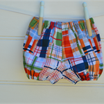 Plaid baby bloomers - babies gifts, nappy covers, unisex baby clothes
