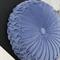 Cornflower Blue Vintage Style Velvet Cushion