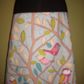Blue Bird Skirt with Bamboo Stretch Band