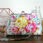 Jennifer Pagonelli Rose Print Purse/Handbag