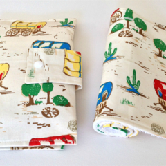 Nappy Wallet & Burp Cloth set