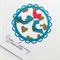 Anniversary love congratulations gold hearts teal aqua lovebirds mum dad card