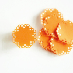 Apricot Envelope Seals | Paper Doily Stickers | New Baby Baptism Christening