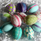 12 Decorated Fabric Covered Easter Eggs