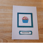 Fun Cup cake Birthday card for boys.