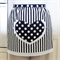 Half Apron Spots & Stripes white & black - womens lined apron with heart pocket