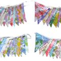 Vintage Buntings - Retro Multi Floral Flags. 'Colours of the Rainbow' Bulk Buy.