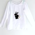 Easter Bunny | Long Sleeved Tee | Hand Printed
