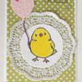 Baby Girl or Baby Shower Handmade Card