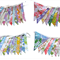 Vintage Buntings - Retro Multi Floral Flags. 'Colors of the Rainbow' Bulk Buy.