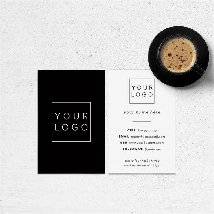 Business card design add your own logo a modern minimalist business card design add your own logo a modern minimalist design reheart Gallery