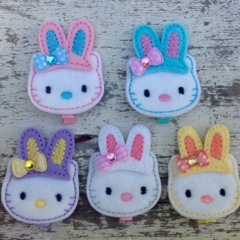 "2"" Hello Kitty Bunny Hair Clips"