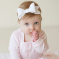 Classic White Large Felt Bow headband or clip - Christening - Baptism - Wedding