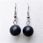 Black Beaded Abacus Earrings Mix and Match