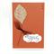 Sympathy Card - Hessian Leaf on Rust