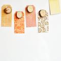 🔴Large Gift {10} Tags Labels MixMatch Orange Scrapbooking Embellishments