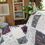 CUSTOM LISTING - RAGGED LOUNGE THROW