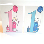 1st Birthday Card - Free Postage