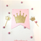 Crown Stickers / Gold Glitter Princess Cinderella crown sticker decorations x 20