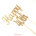 Gold Glitter 'Happy 40th' Cake Topper 40th Birthday Party Cake Topper Decoration