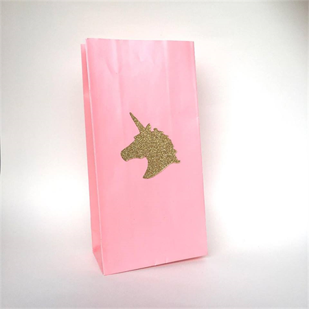 Unicorn Stickers / Gold Glitter Unicorn Head sticker decorations x 20