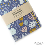Lavender Botanical Fabric Covered Notebook