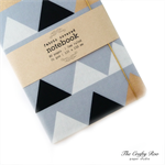 Pale Grey Triangle Fabric Covered Notebook
