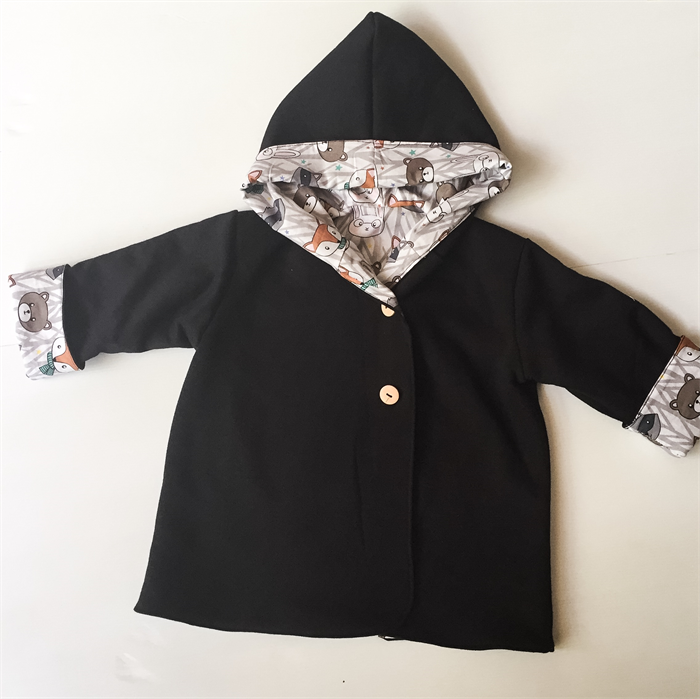 fe7389de2b3b Black and Forest Friends Babies Hooded Coat Jacket Newborn to size 2