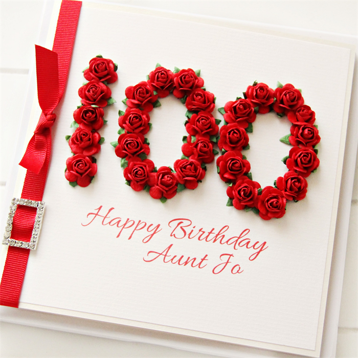 100th personalised birthday card gift boxed red roses 100 happy 100th personalised birthday card gift boxed red roses 100 happy birthday bookmarktalkfo Images