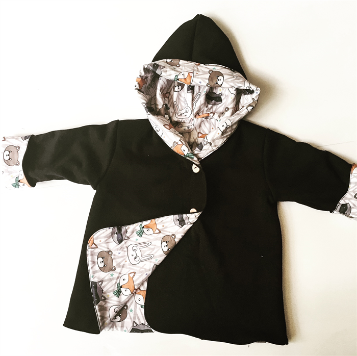 17a91ee8c39e Black and Forest Friends Babies Hooded Coat Jacket Newborn to size 2 ...