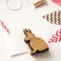 5 Easter Bunnies small tags decor garland bamboo rabbit basket