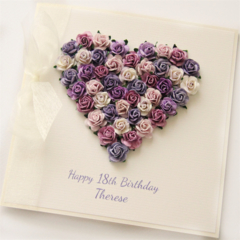 Any Age Personalised card | Gift Boxed | Paper Roses | Custom Made
