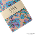 Peach Paisley Fabric Covered Notebook