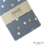 Pale Grey Dots Fabric Covered Notebook