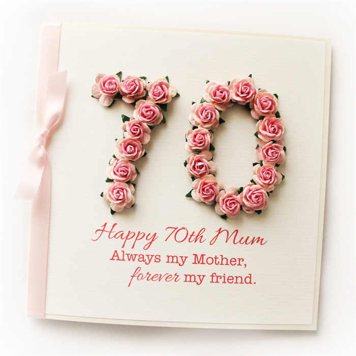 Any Age Mum Card Birthday Gift Box Pink 18 21 30 40 50 60 70 80 90 Personalised