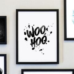 Woo Hoo Watercolour Ink Print