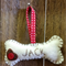 "personalised felt ""dog bone"" christmas  name tag"