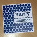 Male Happy Birthday card - hexagons